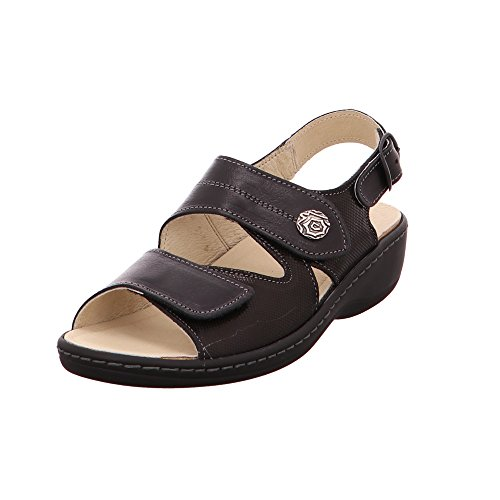LONGO Damen Sandaletten Leichte Keilsandalette 1006422 schwarz 52109