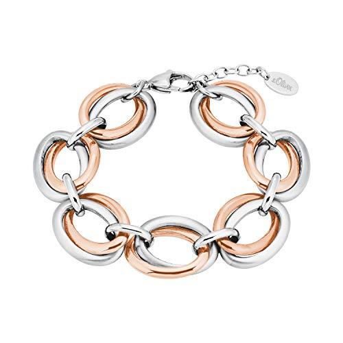 s.Oliver Armband für Damen, Edelstahl bicolor
