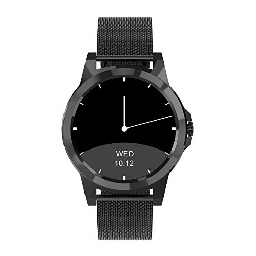 Diggro Bluetooth Smart Watch DI02 DI03BS MTK2052 C cardiofrequenzimetro pedometro sonno monitor speaker microfono Siri per Android iOS DI03plus Black Milanese