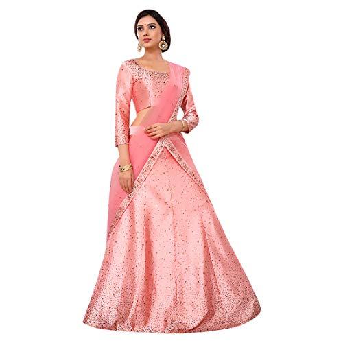 ETHNIC EMPORIUM Dames Silk Bruid Wedding Designer Bollywood Feestelijke Swarovski steen werk Lehenga Choli Ghagra Dupatta Indian moslim 777 43483 zoals getoond