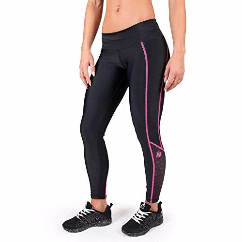 Gorilla Wear Carlin Compression Tight - schwarz/pink- Bodybuilding und Fitness Leggings für Damen, S