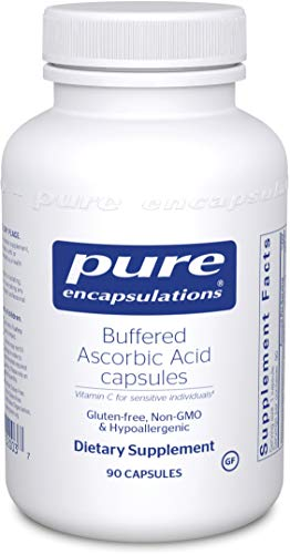 Pure Encapsulations - Buffered Ascorbic Acid Capsules - Vitamin C for Sensitive Individuals - 90 Capsules