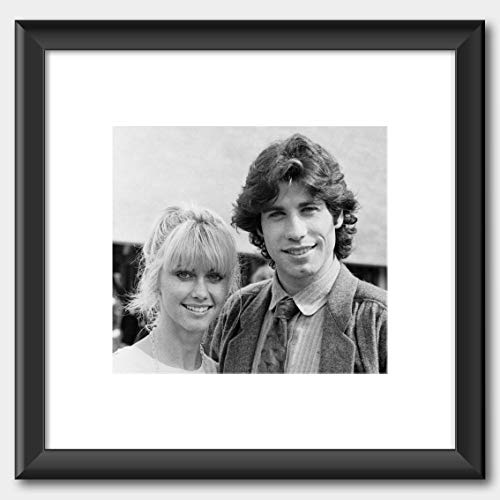 John Travolta & Olivia Newton-John on the release of the film Grease 1978 Poster Black Frame White 40 x 40