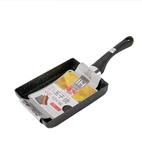Cocina olla huevo friendo sartén wok pan huevo panqueque sartén freying sartenes inducción cocina antiadherente pan sartén hogar jardín cocina (Color : Black3PCS)