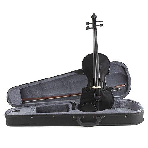 Stagg 25019977 VN4/4-TBK - Violino 4/4 nero con custodia morbida standard