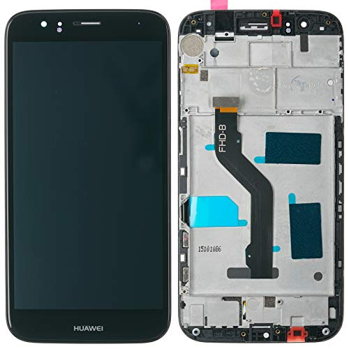 Huawei Ascend G8 GX8 Displaymodul Display LCD Glas Scheibe Touchscreen Rahmen, schwarz