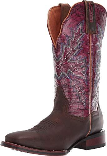 Dan Post Women's Pasadena Western Boot Wide Square Toe Brown 9.5 M