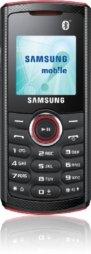 Samsung E2121 Handy (3,9 cm (1,5 Zoll) Display, Bluetooth, VGA Kamera) rot