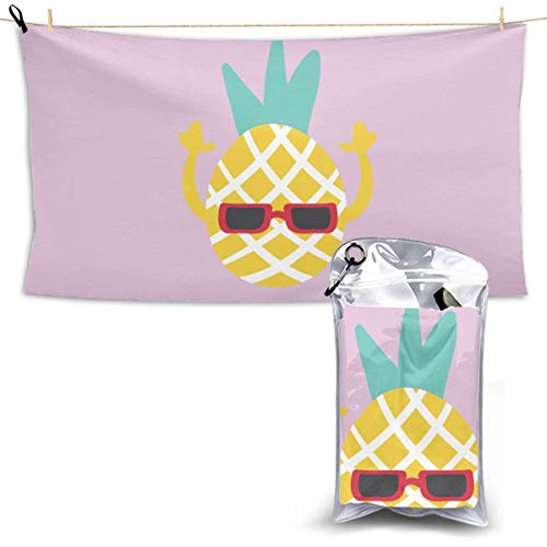 Rock Pineapple Toallas de baño Absorbentes de Secado rápido Playa Piscina Fitness Yoga Toalla para Nadadores Toalla de Gran tamaño sin Arena Toallas de baño
