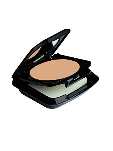 Palladio Dual Wet and Dry Foundation with sponge and Mirror, Squalane Infused, Apply Wet for Maximum Coverage or Dry for Light Finishing and Touchup, Minimizes Fine Line, All day Wear, Cypress Beige