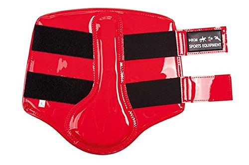 HKM 543621 HKM Gamaschen - Lacklederimitat - Grösse XL, rot