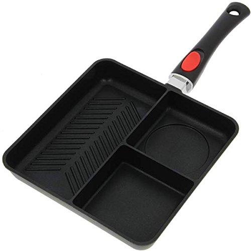 NGT Multi Section Frying Pan Pfanne, schwarz, M