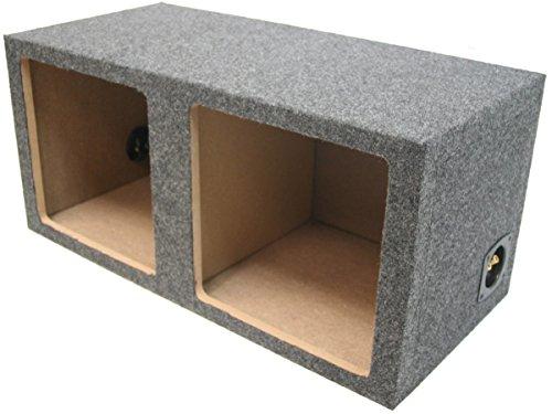 "Car Audio Dual 12"" Sealed Square Sub Box Enclosure fits Kicker L7 Subwoofer"