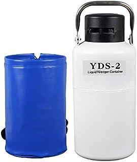 tanque de nitrogeno líquido portatil 2l contenedor semen criogénico con 3 Botes y Bolsa de Transporte