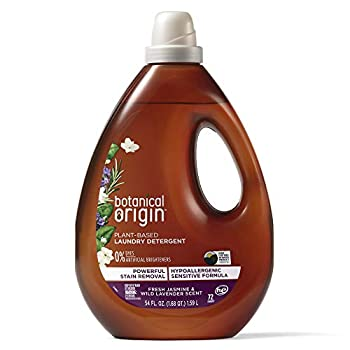 Botanical Origin Plant-based Laundry Detergent Free from Dyes and Brighteners 3.37 Pound Lavender 54 Fl Oz