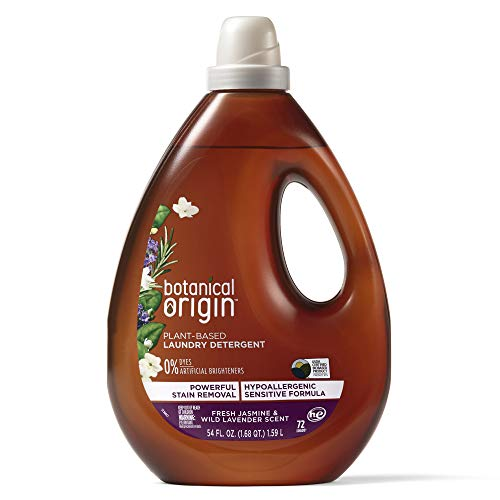 Botanical Origin Plant-based Laundry Detergent Free from Dyes and Brighteners, 3.37 Pound, Lavender, 54 Fl Oz
