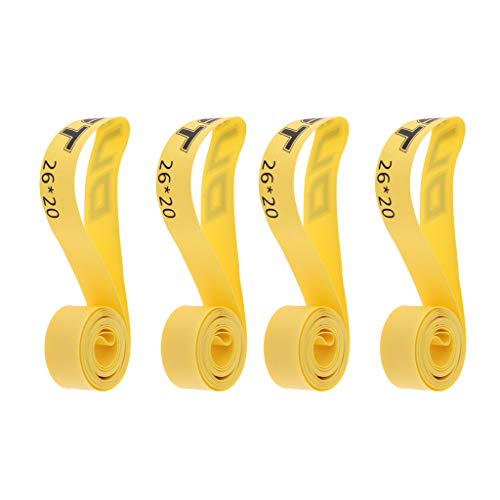 chiwanji 4 Piezas Forro de Neumático de Bicicleta de Montaña 26'protegen Cinturones de Almohadillas a Prueba de Pinchazos