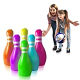 GoSlaz Giant Inflatable Bowling Pins - Outdoor Lawn Bowling Play Set for Kids