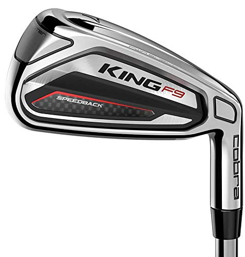 Cobra Golf Club King F9 SpeedBack 4-PW Iron Set Stiff Steel New -  887996080168
