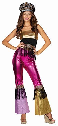 Rubies 13447-40 - Disfraz de Hippie para Mujer, Talla 40, Multicolor