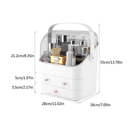 TTZY Kosmetisches Aufbewahrungsbehälter-Verfassungs-Organizer-Fach große Kapazitäts-Make-up Container beweglicher kosmetischer Organisator-Kasten-3 Ebenen SHIYUE (Color : 3 Layers)