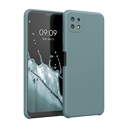 kwmobile Cover Compatibile con Samsung Galaxy A22 5G - Cover Custodia in Silicone TPU - Back Case Protezione Cellulare Blu Ghiaccio