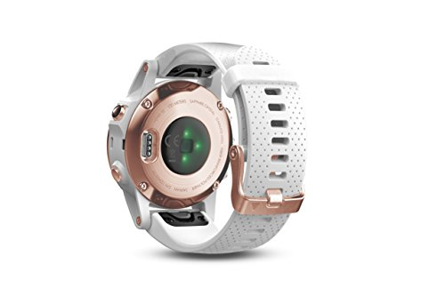 Garmin fēnix 5s, Premium and Rugged Smaller-Sized Multisport GPS Smartwatch, Sapphire Glass, Rose Gold/White 6