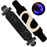 TYXTYX Longborads Skateboards 47 Pulgadas Complete Drop Down Through Deck Cruise Professional Longboard, Drop Through Freestyle Longboard Skateboard