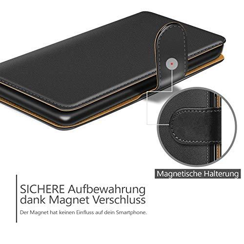Conie BW3067 Basic Wallet Kompatibel mit Honor 5X, Booklet PU Leder Hülle Tasche mit Kartenfächer und Aufstellfunktion für Honor 5X Case Schwarz - 6