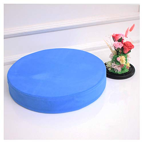 Round Seat Pads,Round Couch Cushion,Flannel cover half-opening hidden zipper Chair Cushions Seat Pads,Indoor Outdoor Round Seat Pad Cushions,2'(5cm) thick Multi-size color-Blue 50x5cm(19.6x2in)