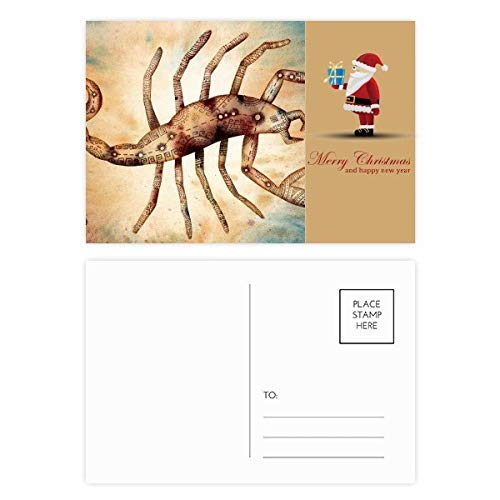 November Oktober Schorpioen sterrenbeeld Zodiac Kerstman Postkaart Set Thanks Card Mailing 20 stks