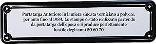 Targhe Storiche Kennzeichenhalter Rahmen vorne schwarz für Kennzeichen bis 1985.