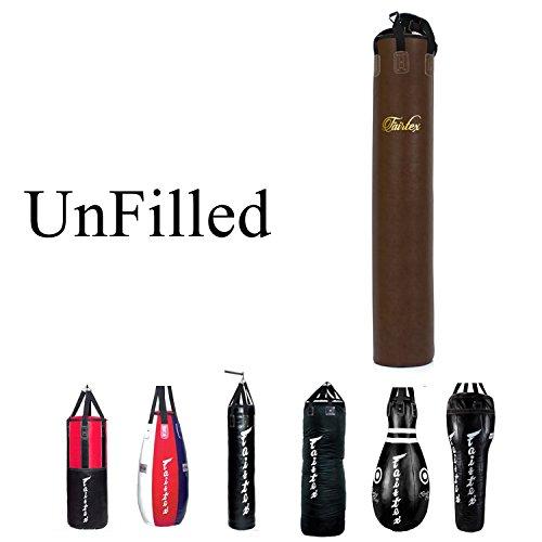 Fairtex Heavy Bag ungefüllt Banana, Tropfenform, Bowling, 7ft Stange, Winkel Tasche, HB3HB4HB6HB7HB10HB12Für Muay Thai Boxen, Kickboxen, MMA, unisex, HB6TB Banana Bag