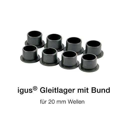 8 x igus ® boccole flangiate - iglidur® GFM Ø (8, 10, 12, 16 y 20 mm) (Ø20mm GFM-2023-16)