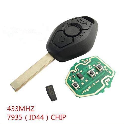 BAAQII EWS Remote Key Shell Gehäuse 433MHZ ID44 CHIP für BMW 3 5 7 Series E38 E39 E46