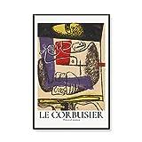 Cubismo abstracto Museo Le Corbusier Impresión Exposición Póster Arte Pared Mural Retro Familia Sin marco Lienzo Pintura A2 70x100cm