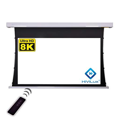 HiViLux Tension Motor Leinwand Dualspann/professionell Kinofolie: HiViWhite Cinema 1,0 / 8K/4K UHD für 3D / 2D / TXN Serie (16:9 Bild:244x137cm 110