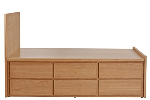 Affordable Urbangreen Thompson Storage Bed 12 Drawer in Walnut, Queen, Bleach Finish