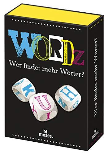 Moses 90238 Wordz-Wer findet mehr Wörter | Wortspiel für Spieler ab 8 Jahren, Mehrfarbig
