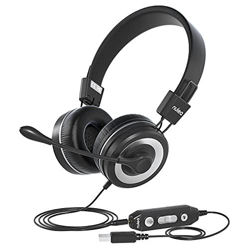 Auriculares Con Microfono Para Pc auriculares con microfono  Marca Nulaxy