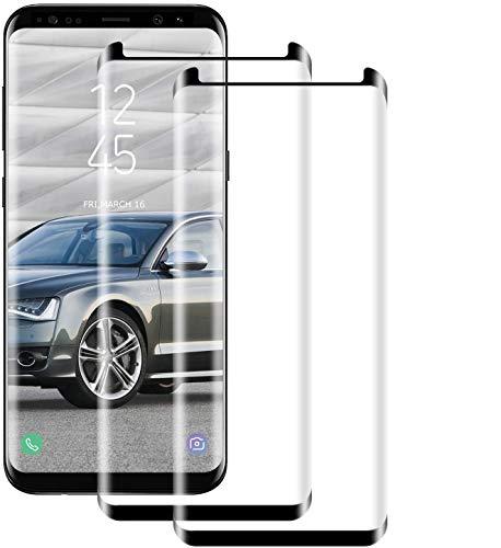 NUOCHENG Protector Pantalla de Samsung Galaxy S8 (Pegamento en Toda la Pantalla) (9H Dureza) (Alta sensibilidad),Cristal Vidrio Templado/Protector de Pantalla para Samsung S8