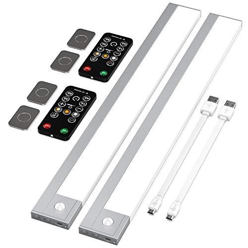 Chesbung Luce Led Sensore Movimento Armadio ,USB ricaricabile alimentato a batteria automatica sotto la luce notturna a LED del Governo (2 Pezzi)