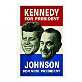 Deko Wand Bild John F.Kennedy Lyndon Johnson Vintage