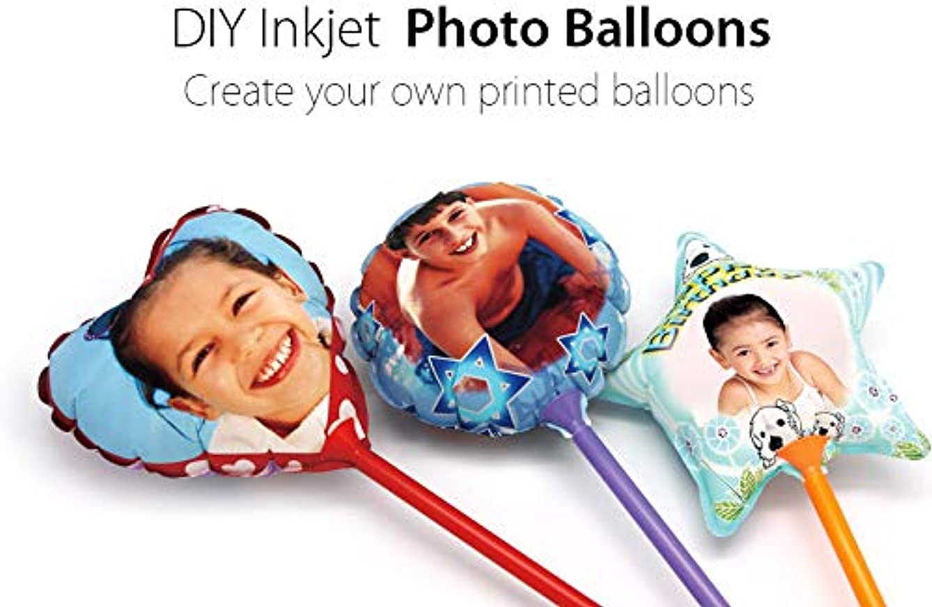 Printable Party Balloons with Inkjet Printing 3pcs (Family Pack)