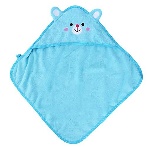 Kissherely niedlichen Hund Handtuch Tier Geformte Haustier Bad schnell trocknend Handtuch super saugfähigen Welpen Bademäntel Trocknen Mäntel (Blue Bear S)