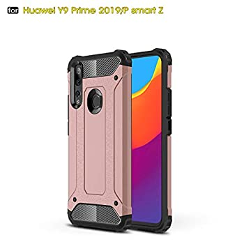 P Smart Z /Y9 Prime 2019 Case TPU +PC Iron Armor Shockproof Designed Case,Full Body Dual Layer Rugged Cover for Huawei P Smart Z /Y9 Prime 2019 Case Rose Gold