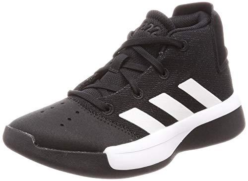 Adidas Pro Adversary 2019 K, Zapatos de Baloncesto Unisex Niños, Negro (Black/White/Grey 000), 35 EU