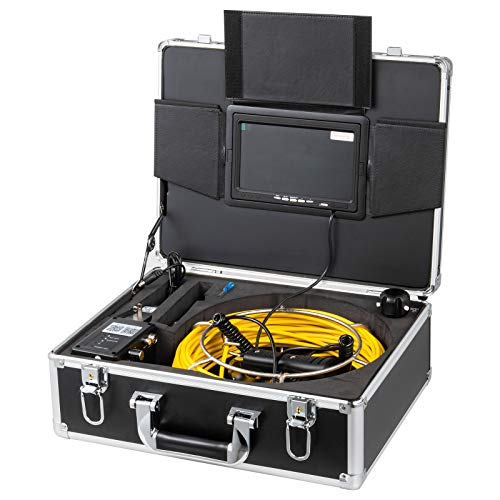 VEVOR 50M 9 Inch WiFi 23mm Pipe Inspection Camera 1000 TVL and 12 LED Lights Pipe Pipeline Inspection Camera with APP Taking Pictures Video Recording