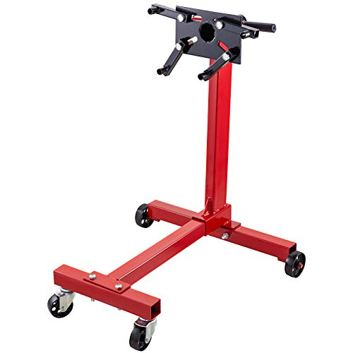 BestEquip Engine Stand 1000LBS Capacity Motor Stand Engine Hoist Rotating Automotive Tools in Heavy Duty Steel with 4 Iron Caster Wheels Maintenance Equipment for Auto Car Truck Jack