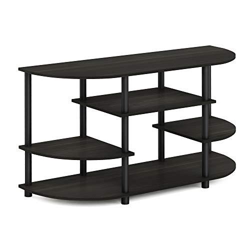 Furinno JAYA Simple Design Corner TV Stand, Espresso/Black